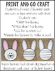 Bunny Craft~ No Prep Writing Activity