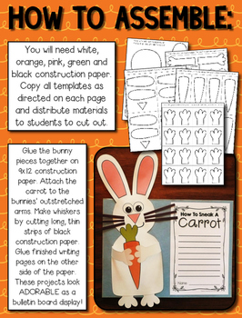 Bunny Craftivity and Writing Project