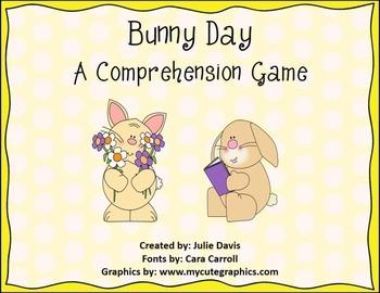 Bunny Day Comprehension Game Kindergarten