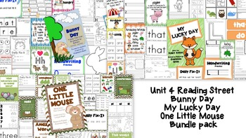 Bunny Day, My Lucky Day, One Little Mouse Bundle - Reading Street Resource Packs
