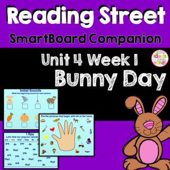 Bunny Day SmartBoard Companion Kindergarten