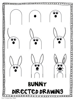 Bunny Directed Drawing for Spring