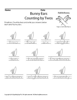 Bunny Ears Counting By Twos
