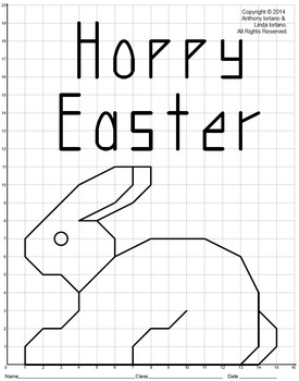 Bunny, Easter, Chocolate Rabbit, Coordinate Drawing, Coordinate Graphing