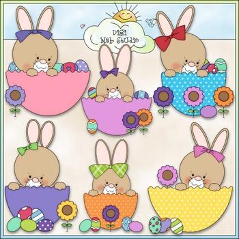 Bunny Easter Eggs Clip Art - Easter Clip Art - Bunny Clip