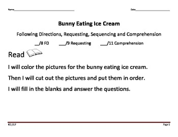 Bunny Eating Ice Cream_Adapted Activity