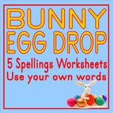 Bunny Egg Drop Spelling Sheets 2-6 letter Words
