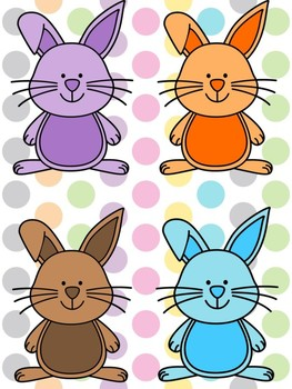 Bunny & Egg File Folder Game
