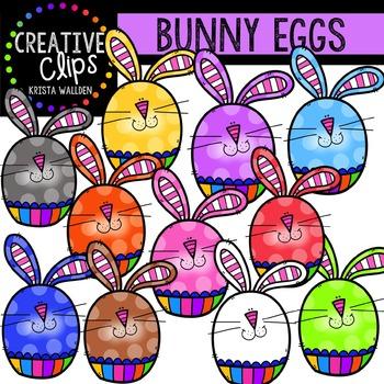 Bunny Eggs {Creative Clips Digital Clipart}