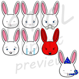 Bunny Emojis - VIPKid My Feelings Demo Lesson Props