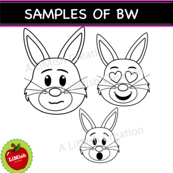 Bunny Faces And Emotions Clipart