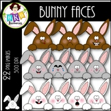Bunny Faces ● Clip Art ● Products for TpT Sellers