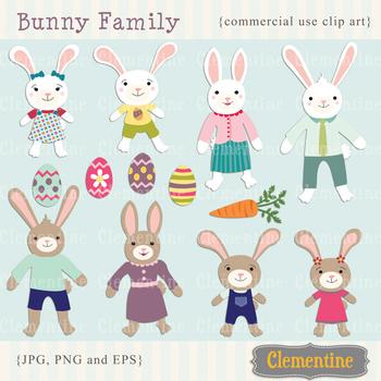 Bunny Family Easter clip art