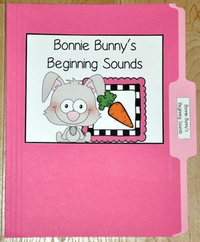 "Bunny File Folder Game--""Bonnie Bunny's Beginning Sounds"""