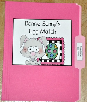 "Bunny File Folder Game--""Bonnie Bunny's Egg Match"""
