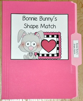 "Bunny File Folder Game--""Bonnie Bunny's Shapes Match"""
