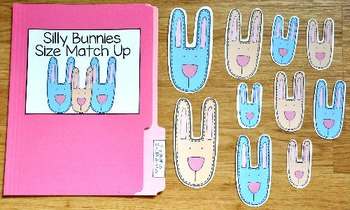 Bunny File Folder Game:  Silly Bunnies Size Match Up
