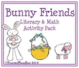 Bunny Friends Literacy & Math Activity 4 Pack