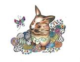 Bunny Fun Coloring Sheets