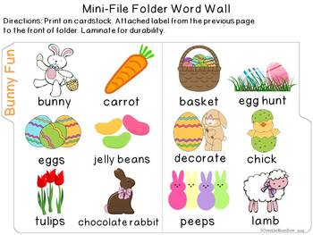 Bunny Fun Mini-Word Wall Activity Pack