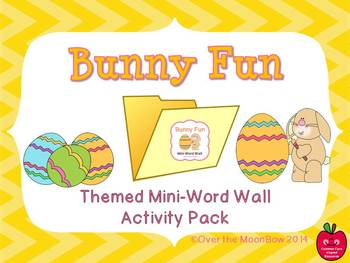 Bunny Fun Mini-Word Wall Activity Pack