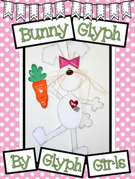 Bunny Glyph for Easter (with Writing Options)