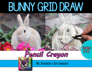 Bunny Grid Drawing Art Lesson