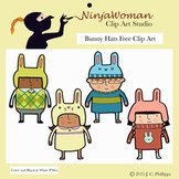 Bunny Hats FREE Clip Art