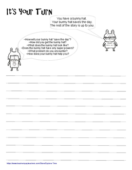 Fun Writing Prompts {Bunny Hats Saved the Day}