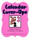 Bunny Heart Valentine themed Calendar Cover-Ups