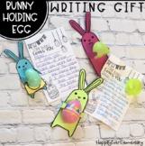 Bunny Holding Egg Writing Gift