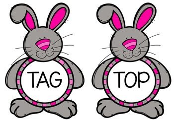 Bunny Hop - 2 CVC Word Games {Freebie}
