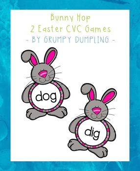 Bunny Hop - 2 CVC Word Games {Freebie}