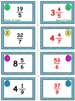 Spring Math Skills & Learning Center (Improper Fractions & Mixed Numbers)