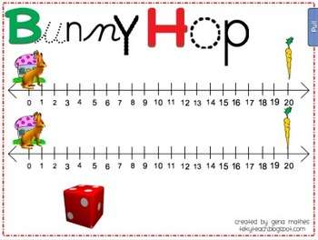Bunny Hop Game for Everyday Math