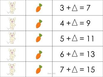 Bunny Hop - Missing Addend Math Center