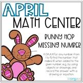 Bunny Hop Missing Number to 20 Number Line Kindergarten April Math Center