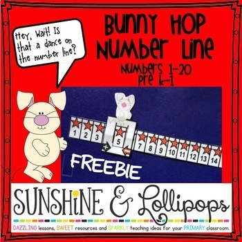 Number Line Freebie : Bunny Hop Number Slides For Pre K-1st Grade