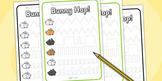 Bunny Hop Pencil Control Worksheet Colour
