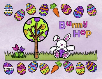 FREE!  Bunny Hop Reading Board Game (PreK-K)