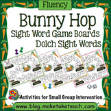 Sight Words - Bunny Hop Game Boards