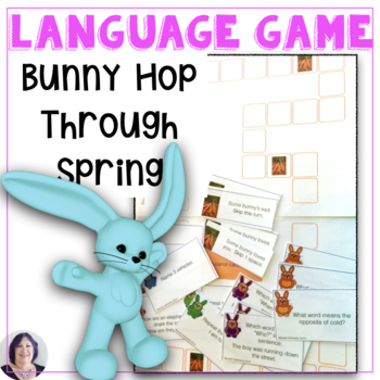 Bunny Hop Receptive Expressive Language Game for speech therapy