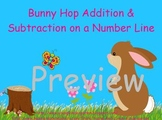 Bunny Hop on  Number Line for ActivBoard