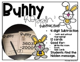 Bunny Hoppin' 4-digit Subtraction Math Station with and wi