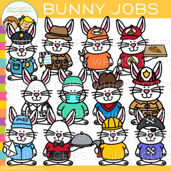 Bunny Jobs Clip Art