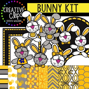 Bunny Kit {Creative Clips Digital Clipart}
