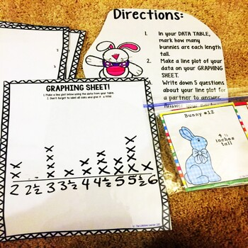 Easter Math Game - Line Plots with Fractions Game