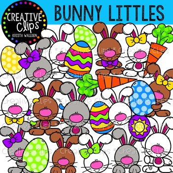 Bunny Littles: Easter Clipart {Creative Clips Clipart}