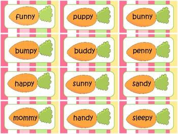 Bunny Love- Words with long /e/ sound (using letter y)