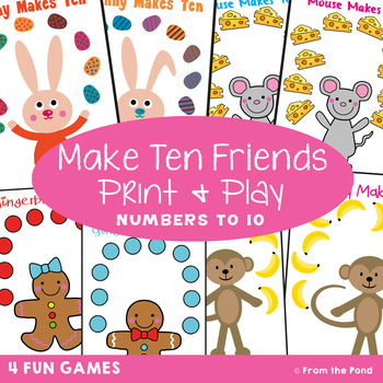 image regarding Making 10 Games Printable known as Math Video games for Addition Produce 10 Close friends)
